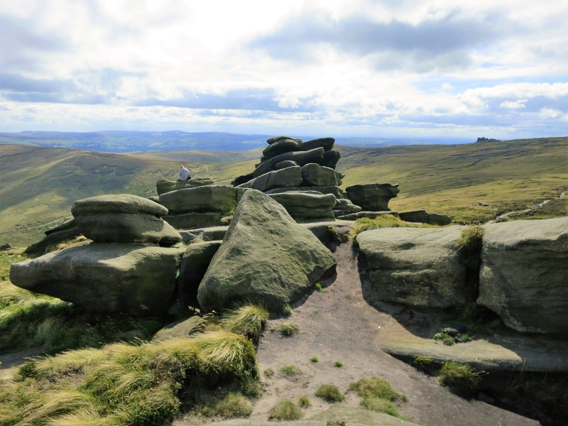 Peak District Edale Kinder Scout walk
