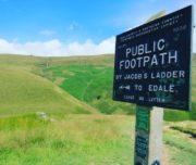 Peak District Kinder Scout walk